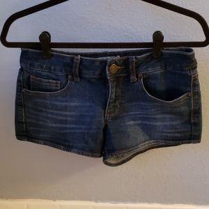 SO dark wash denim shorts